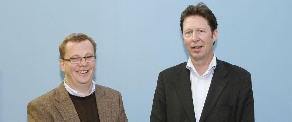 Roald Sannæs og Henrik Bækken i konsulentselskapet Move mener de kommer godt ut av bransjens konsolideringsiver.