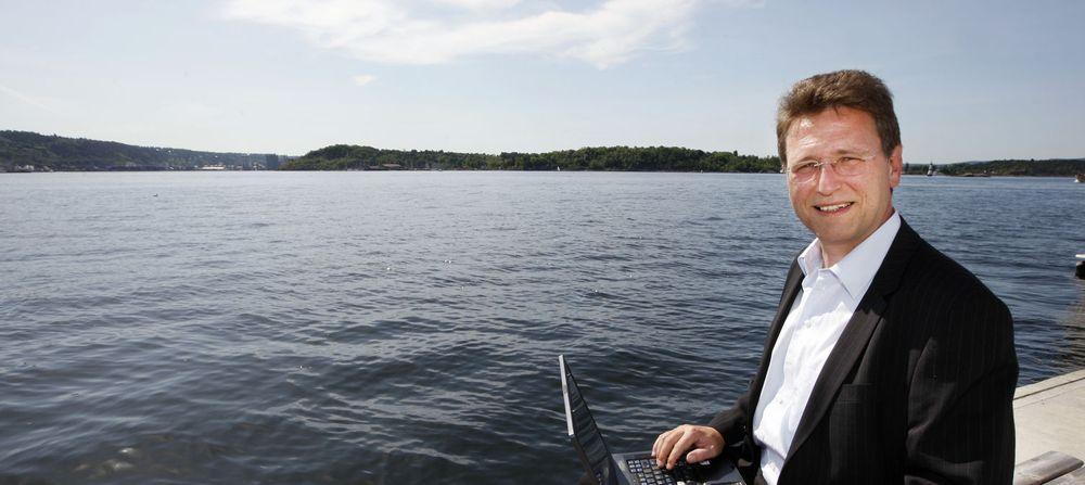 Ice-sjef Matthias Peter sikter mot 150.000 kunder i Norge.