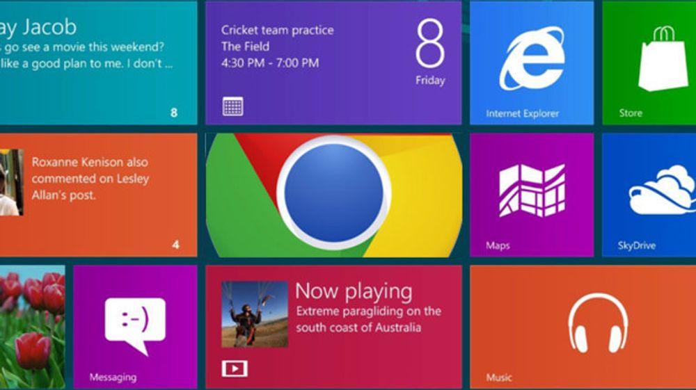Google Chrome med Metro-grensesnitt vil leveres med både Flash Player og PDF-leser.