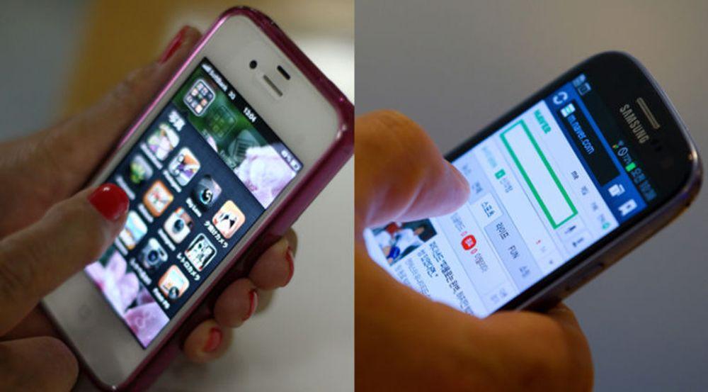 Symboler på et duopoli: Apple iPhone 4S og Samsung Galaxy SIII.