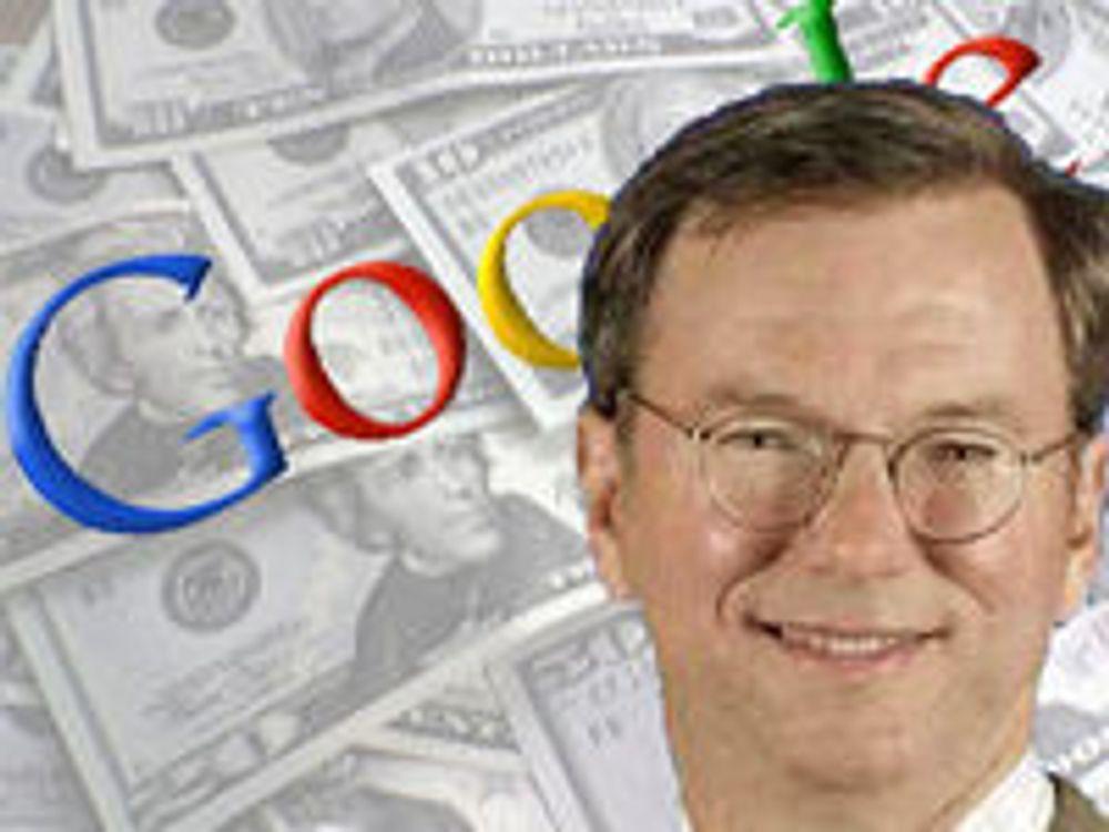 Halvert pakke til Googles toppsjef