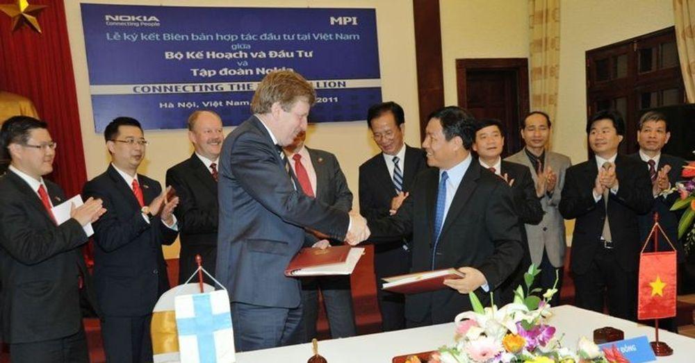 Nokia bygger mobilfabrikk i Vietnam. Denne uken signerte den finske teknologigigsanten en intensjonsavtale med landets myndigheter.
