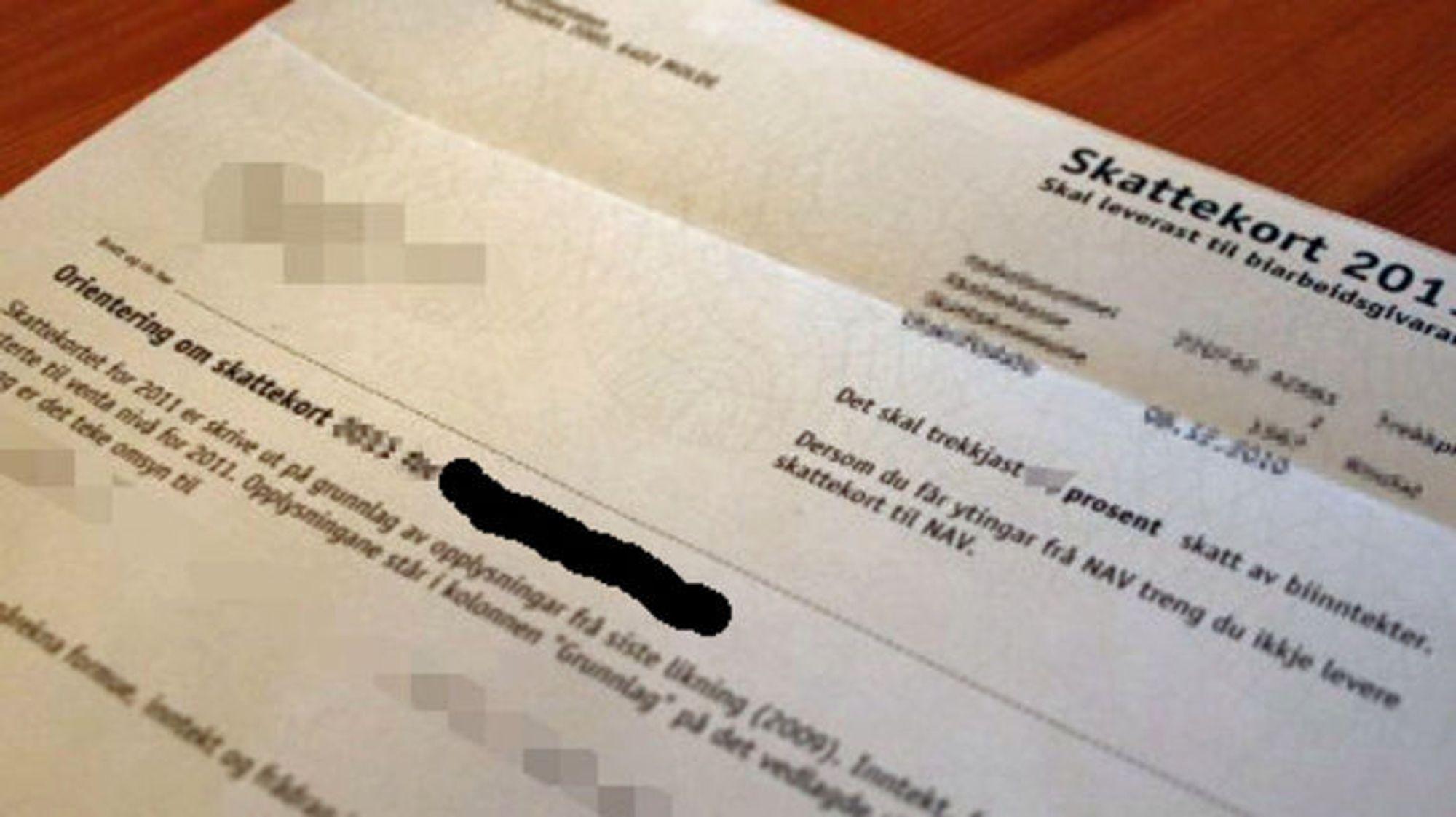 skattekort logg inn