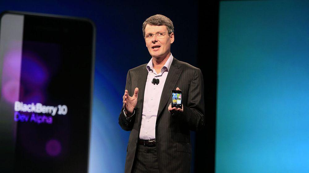 Bære eller briste: RIM-sjef Thorsten Heins må lykkes med  Blackberry 10 hvis selskapet skal overleve. Produktet som i fjor ble forsinket skal endelig lanseres onsdag til uken.