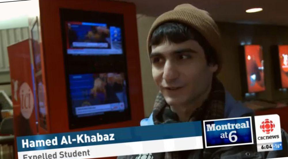 IT-studenten Hamed Al-Khabaz har fått tilbud om et stipend, slik at han betale skolepengene ved et privat college. Men først må ha finne ett som er villige til å se saken fra hans side og det faktum at karakterene hans har blitt nullet som følge av utviklingen fra Dawson College.