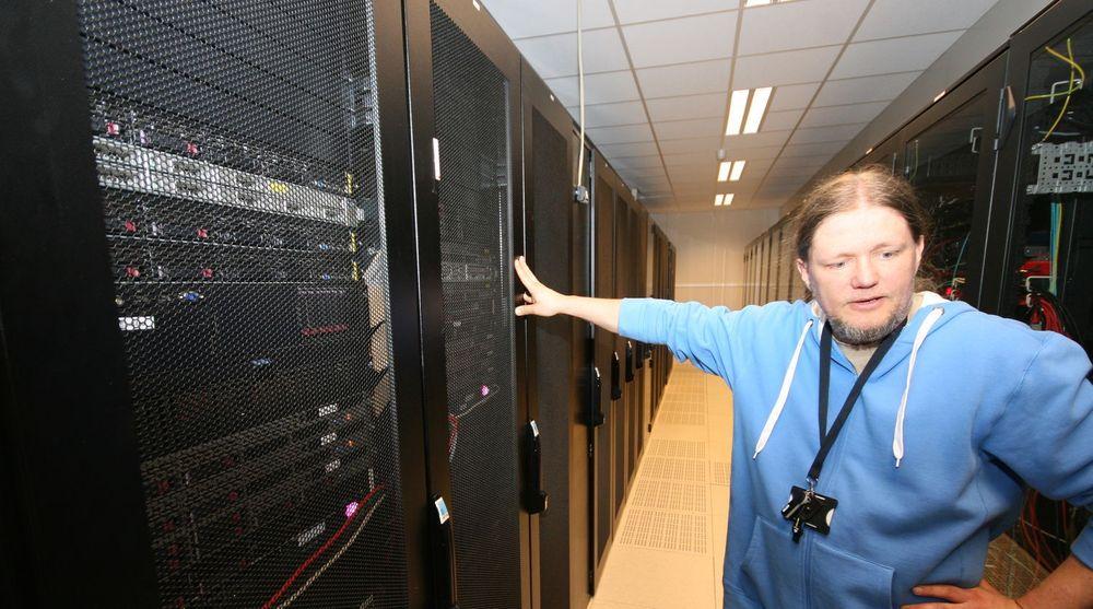 Dette serverskapet huser Altinn, regjeringens milliardsatsing. Bildet er fra et tidligere besøk digi.no gjorde i datasenteret til driftsleverandør Basefarm.