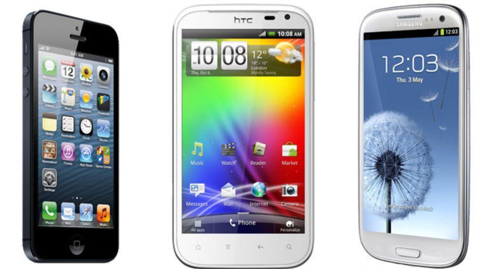 Brukerne av Apple iPhone 5 laster i gjennomsnitt ned mest data via mobilnettet. På de neste plassene kommer brukere av HTC Sensation XL og Samsung Galaxy S III.