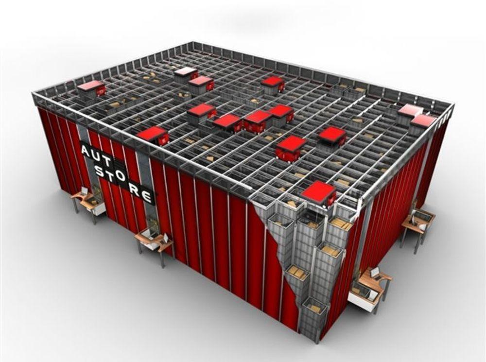 Autostore er utviklet av Hatteland Logistic og har vakt oppsikt verden over.
