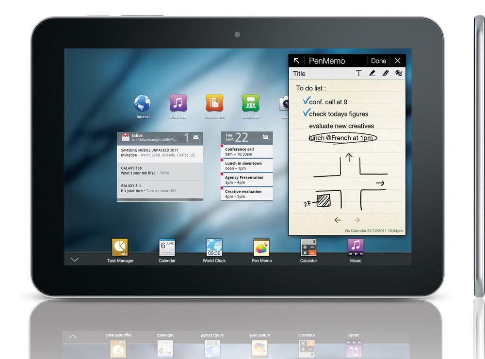 At Galaxy Tab er tynnere enn iPad, gjorde ikke inntrykk på den tyske dommeren.