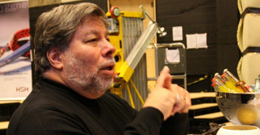 IT-personligheten Steve Wozniak returnerer til Norge. Her fra forrige besøk under HSH-konferansen i Oslo i 2009.