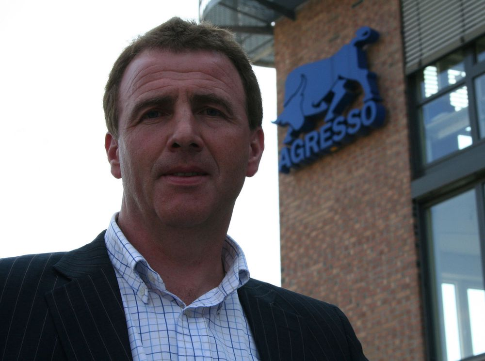 Unit4 Agressos norske toppsjef, Helge Strypet, kan presentere god resultatvekst for første halvår.