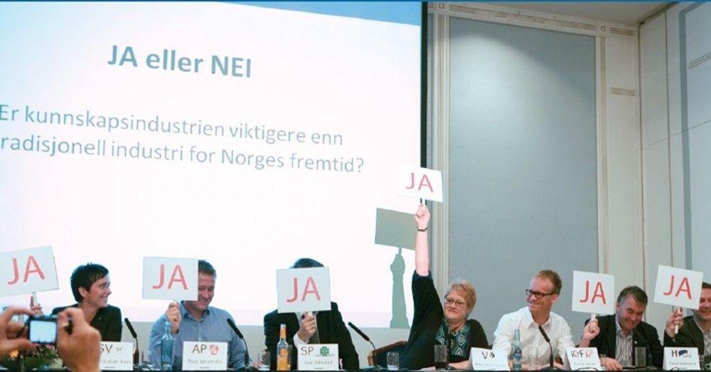 På IKT-Norges paneldebatt før valget var alle politikerne rungende enige. Organisasjonens «Veikart for vekst og velferd» skal hjelpe dem til å sette løftet ut i livet.