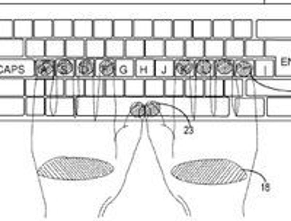 Avstanden mellom tastene bestemmes etter hvordan brukern plasserer fingrene.