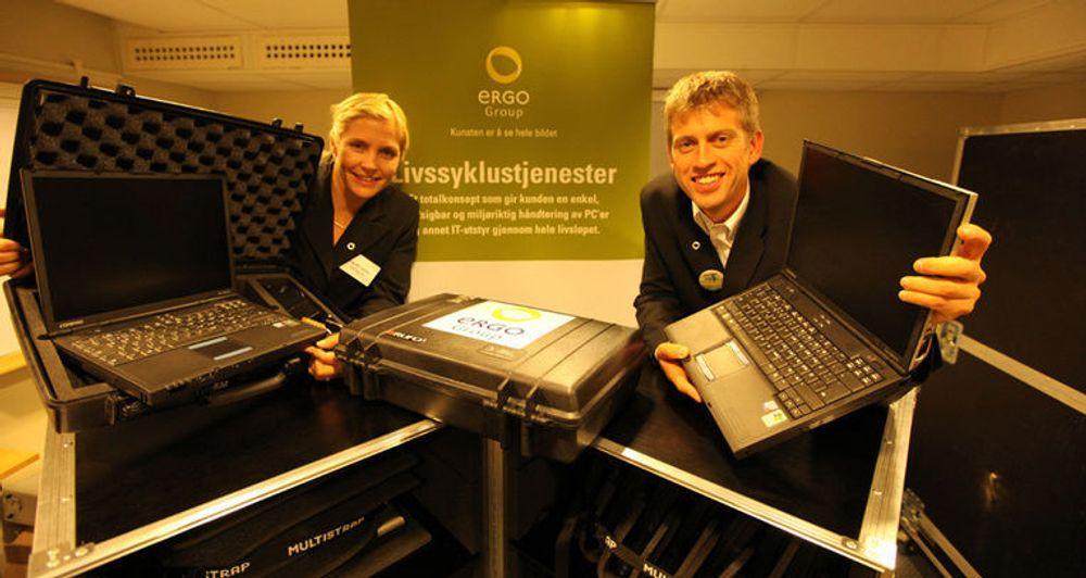 Livssklustjenesten til Ergogroup innebærer en garanti for kildesortering og gjenvinning når utstyret avhendes.