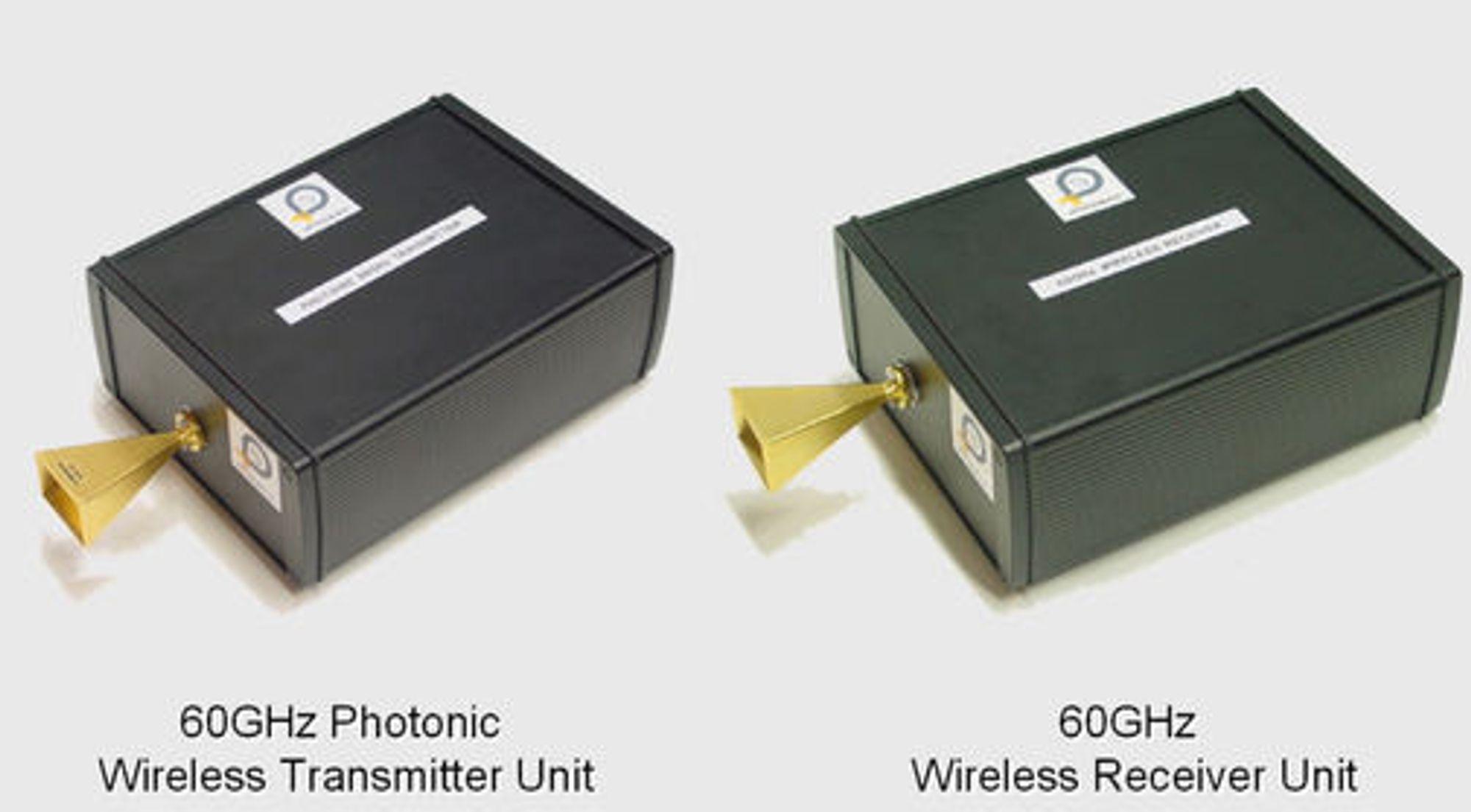 Iphobac 60 GHz fotonisk sender og mottaker