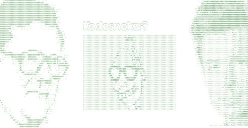 Kodesnoker? ASCII-bilder og skjulte beskjeder brer seg nå blant norske nettsteder. Her et knippe eksempler (fra v.) Finn.no, Dagbladet og VG.