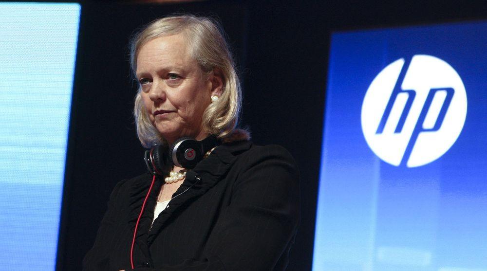 HPs markedsverdi har falt med 40 prosent det siste året. Gevinsten fra nedbemanning og andre sparetiltak skal brukes til utvikling og fornyelse for å sikre langsiktig vekst, sier HP-sjef Meg Whitman.