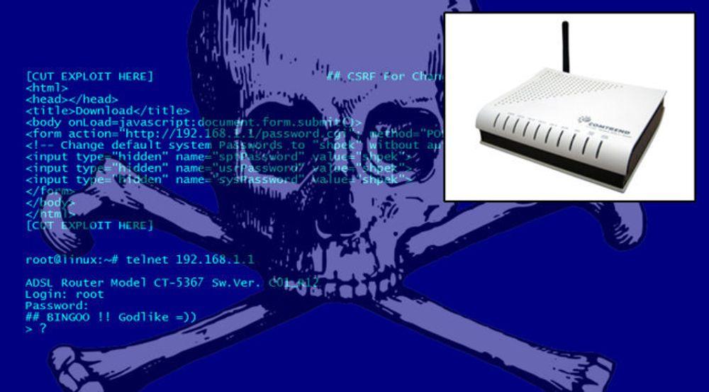 4,5 millioner bredbåndsrutere er kapret via en sårbarhet i utdatert firmware. Den avbildede ruteren fra Comtrend skal bare være en av flere som er berørt.