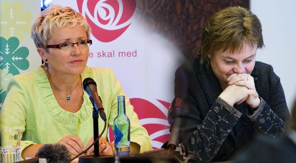 Norske kommuner vil at staten, her representert ved kommunalminister Liv Signe Navarsete og fornyingsminister Rigmor Aasrud (t.h), skal ta styringen over de kommunale IT-satsningene.