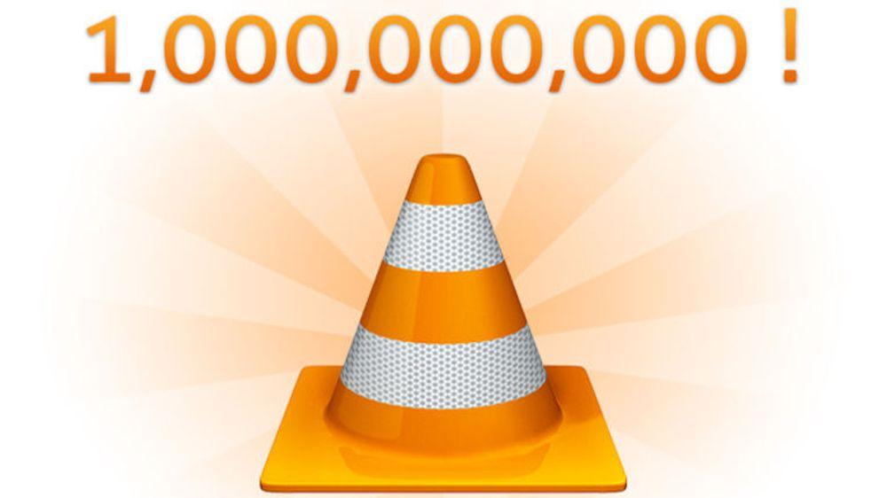 VLC runder én milliard nedlastinger