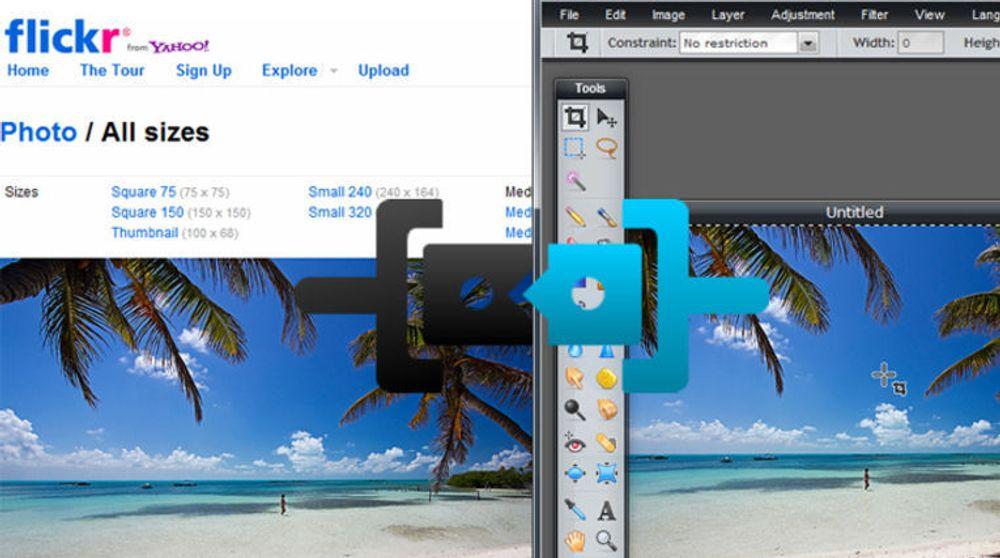 Web Intents kan i teorien gjøre det mulig for brukere av Flickr å redigere bildene i en ekstern tjenesten, uten at brukerne selv må laste bildet fram og tilbake mellom tjenestene.
