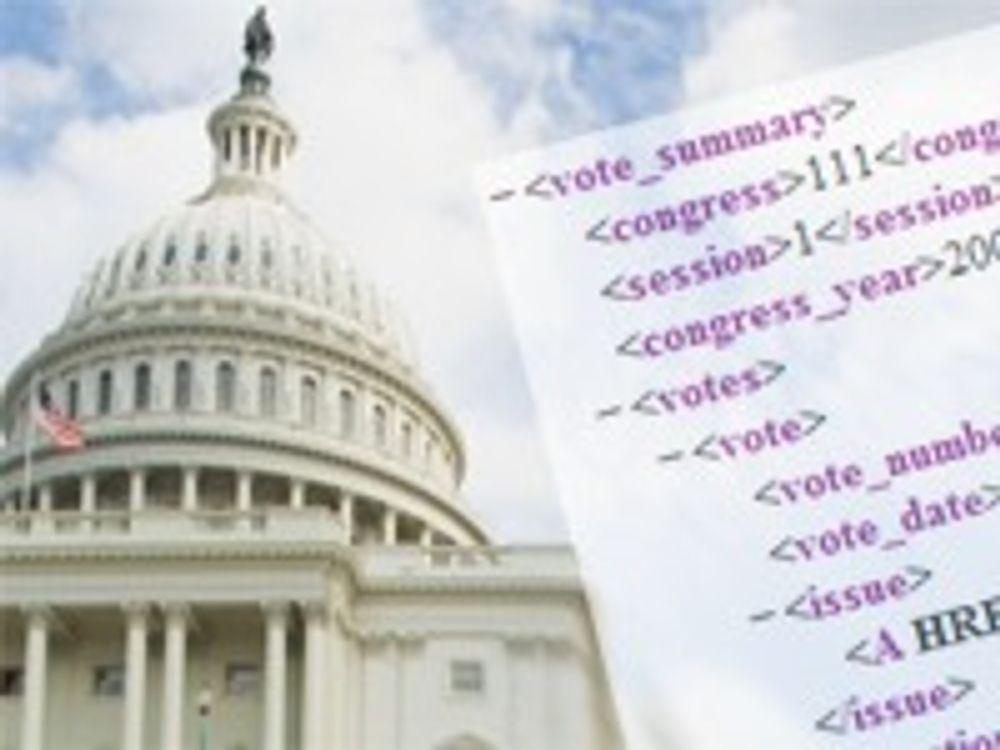 USAs senat åpner seg med XML