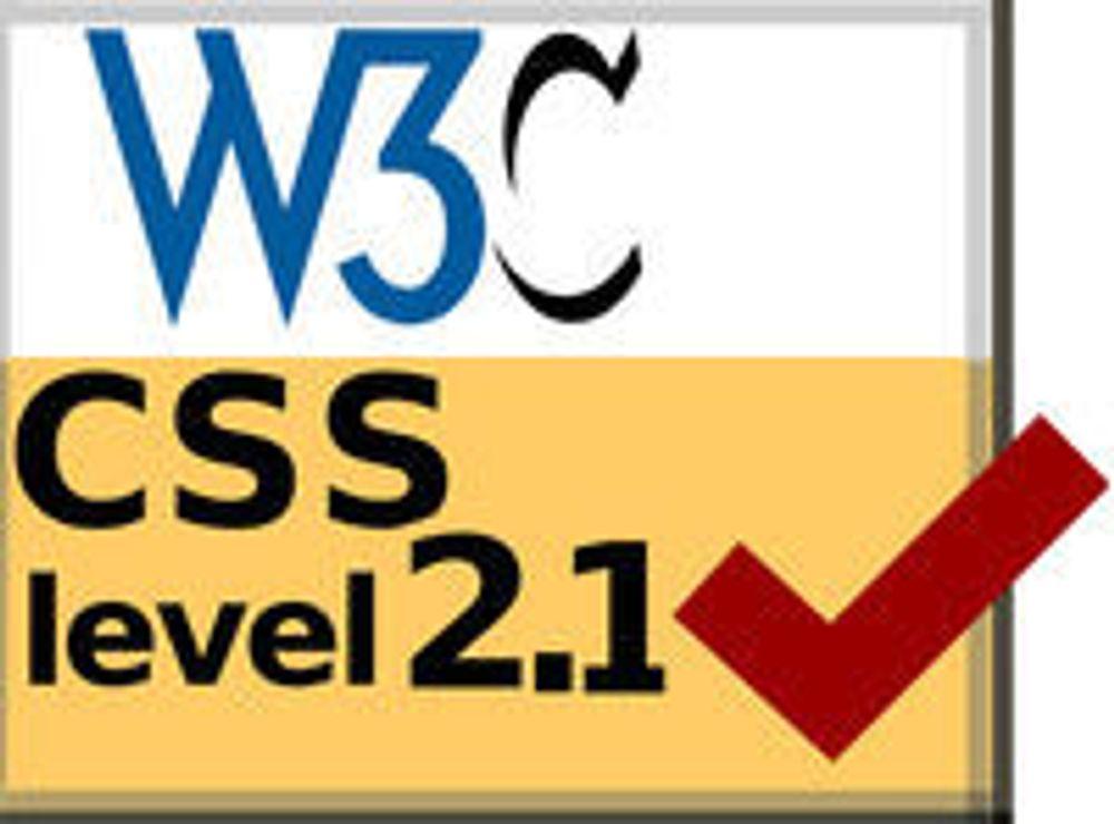 CSS 2.1 har endelig blitt en standard
