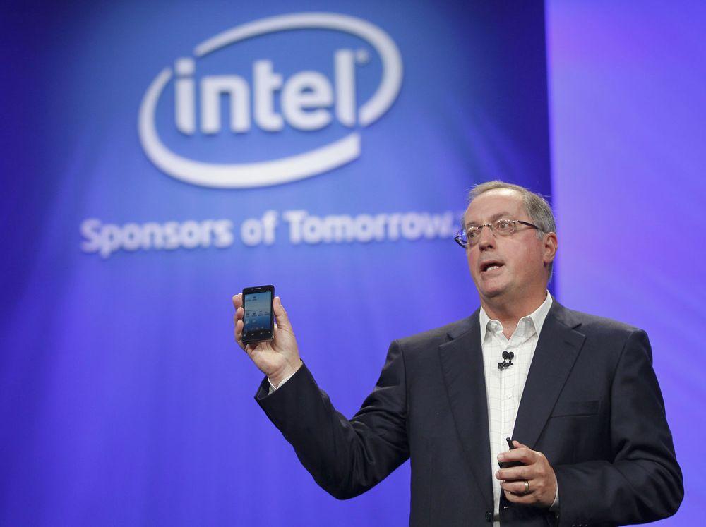 Intel leverer sterke tall, selv om de ikke er spesielt tungt tilstede innen mobile enheter. Her er Intels toppsjef, Paul Otellini, på en utviklerkonferanse i USA fra september i år.