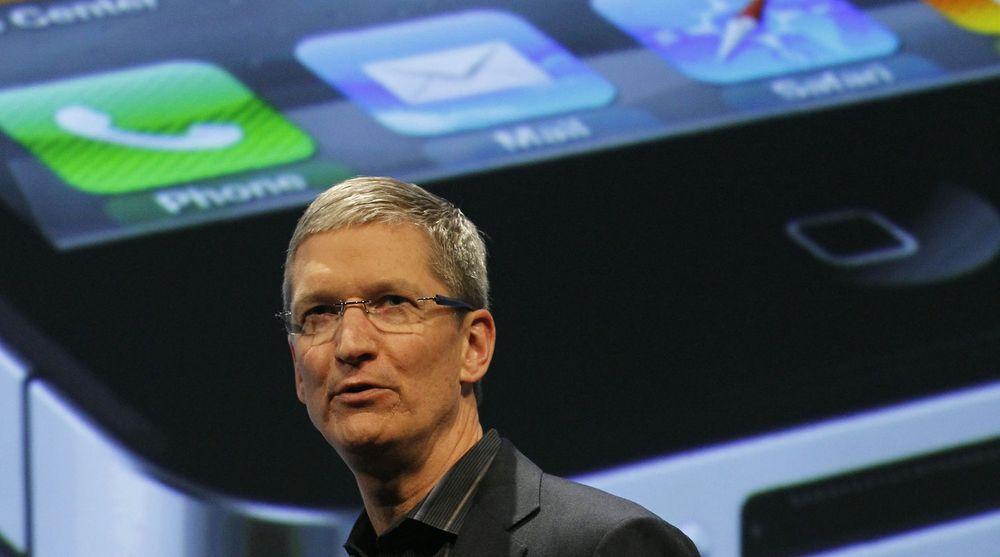 - Vi er begeistret for avslutningen av et svært godt budsjettår 2011, sier Apples toppsjef Tim Cook. Markedet var mindre begeistret.