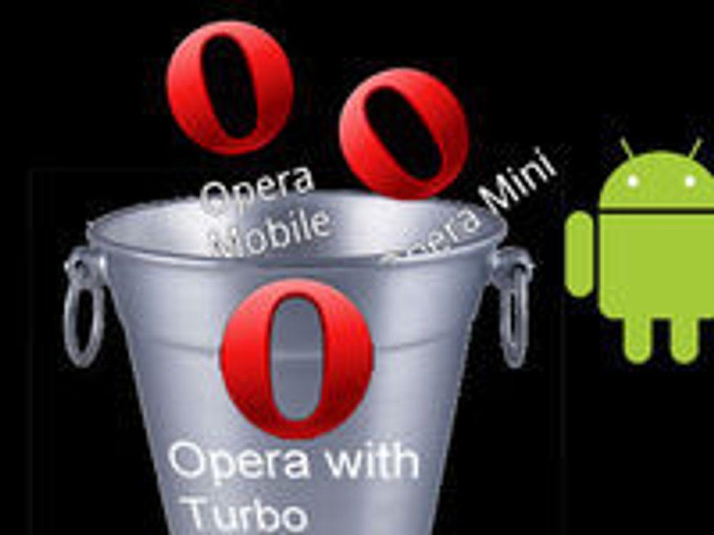 Smelter sammen Opera Mini og Mobile