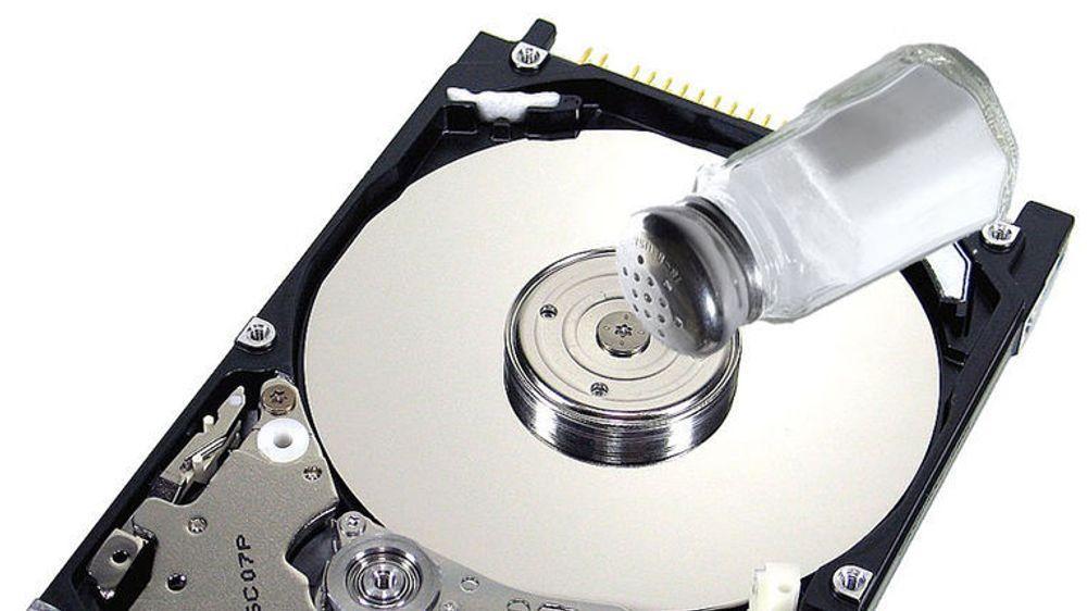 Bruker bordsalt til å øke harddisk-kapasiten