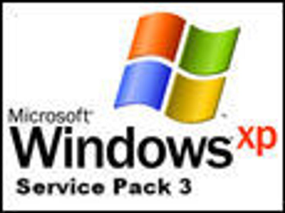 Ny servicepakke til XP tilgjengelig for noen