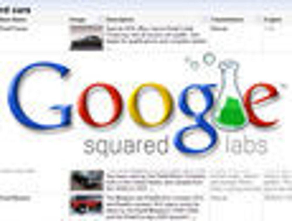 Tabellbasert søk i Google