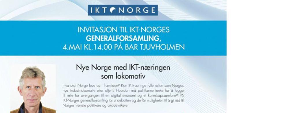 IKT-Norge legger opp til en viktig debatt på sin generalforsamling. Professor Jon Vislie (bildet) presenterer en rapport som tar sikte på å snu opp ned på norsk næringspolitikk.