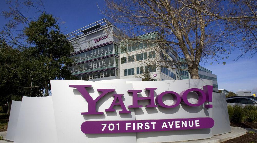 Fra Yahoos hovedkvarter i Sunnyvale i California. Et rykte om at Microsoft skulle by på Yahoo sendte aksjekursen opp 10 prosent.