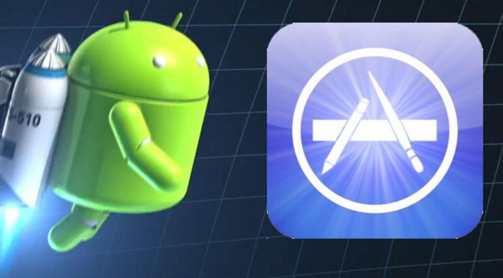 Android Market nærmer seg Apple App Store i antall nedlastinger, men utviklerne tjener langt mer på det de lager for iOS enn for Android.