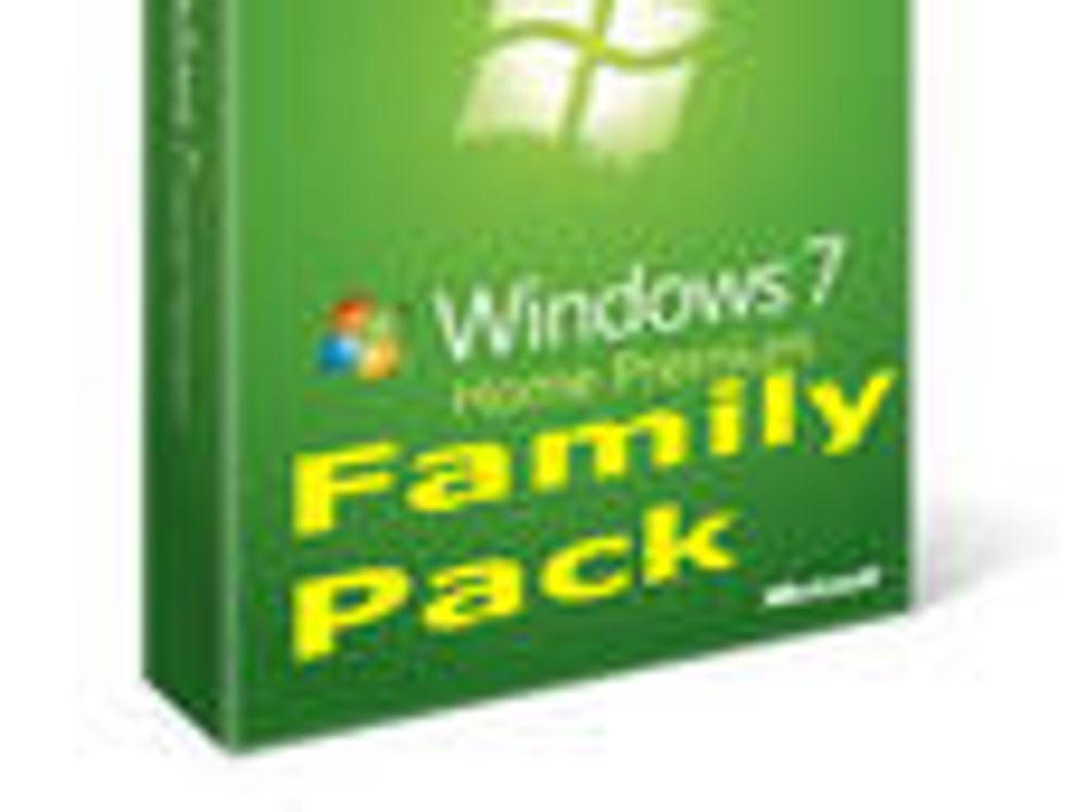 Bekrefter familiepakke av Windows 7