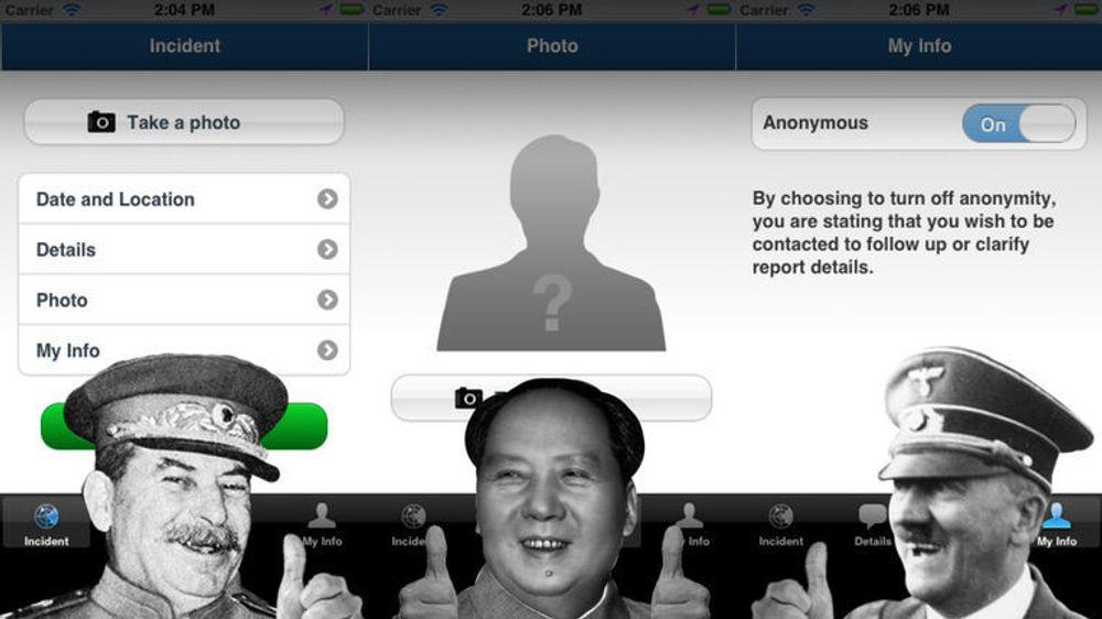 Overvåkningsregimets drøm? I USA tar man nå i bruk mobilapper for å melde inn mistenkelig aktivitet til myndighetene.