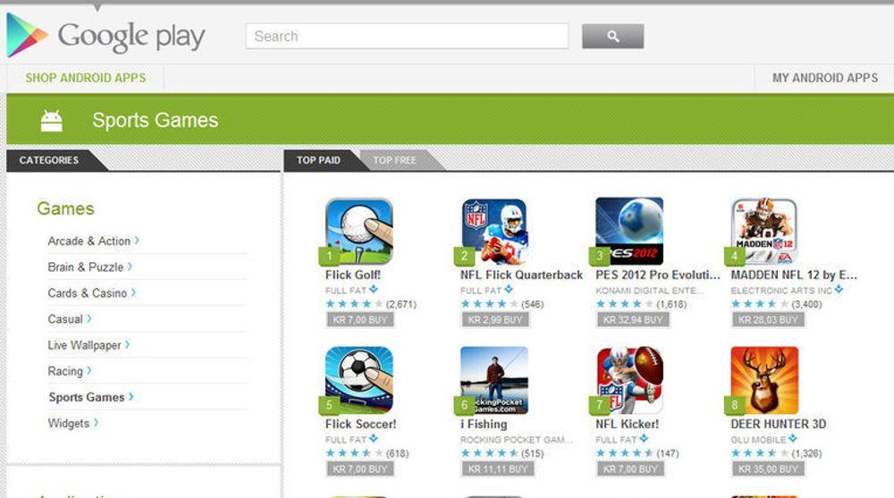 Google åpner for at alle deler av store spill og applikasjoner kan lastes ned fra Google Play Store.