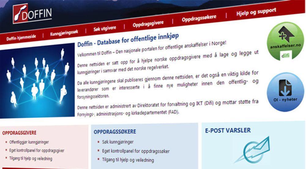Difi er kraftig forsinket med ny versjon av Doffin (7 år) etter rot i annbudsprosessen. Enn så lenge blir passordene fortsatt lagret i klartekst.
