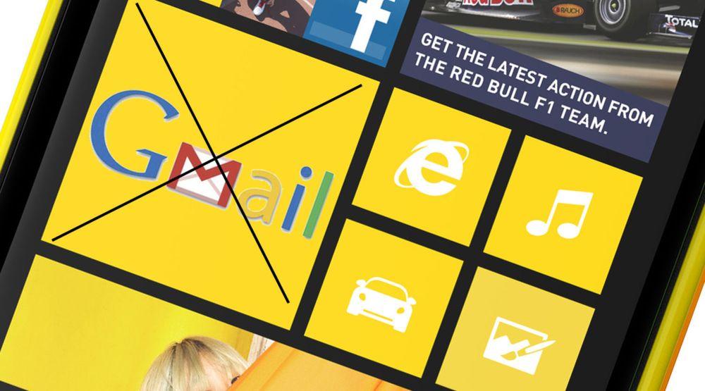 Ingen Gmail-app til Windows 8 eller Phone