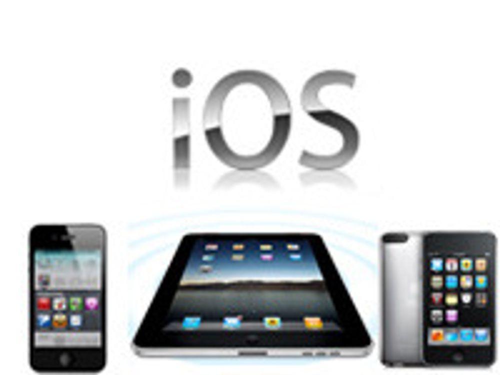 Apple oppdaterer iOS