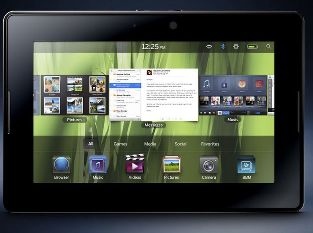 SAP tror tablet-formatet vil appellere til brukere av deres bedriftsapplikasjoner. Bildet viser RIMs kommende Playbook.