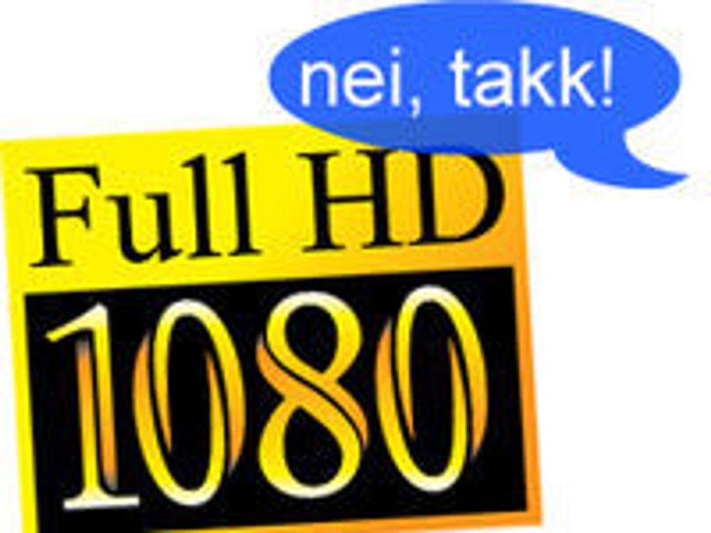 - HD-kvalitet og H.264 er foreldet