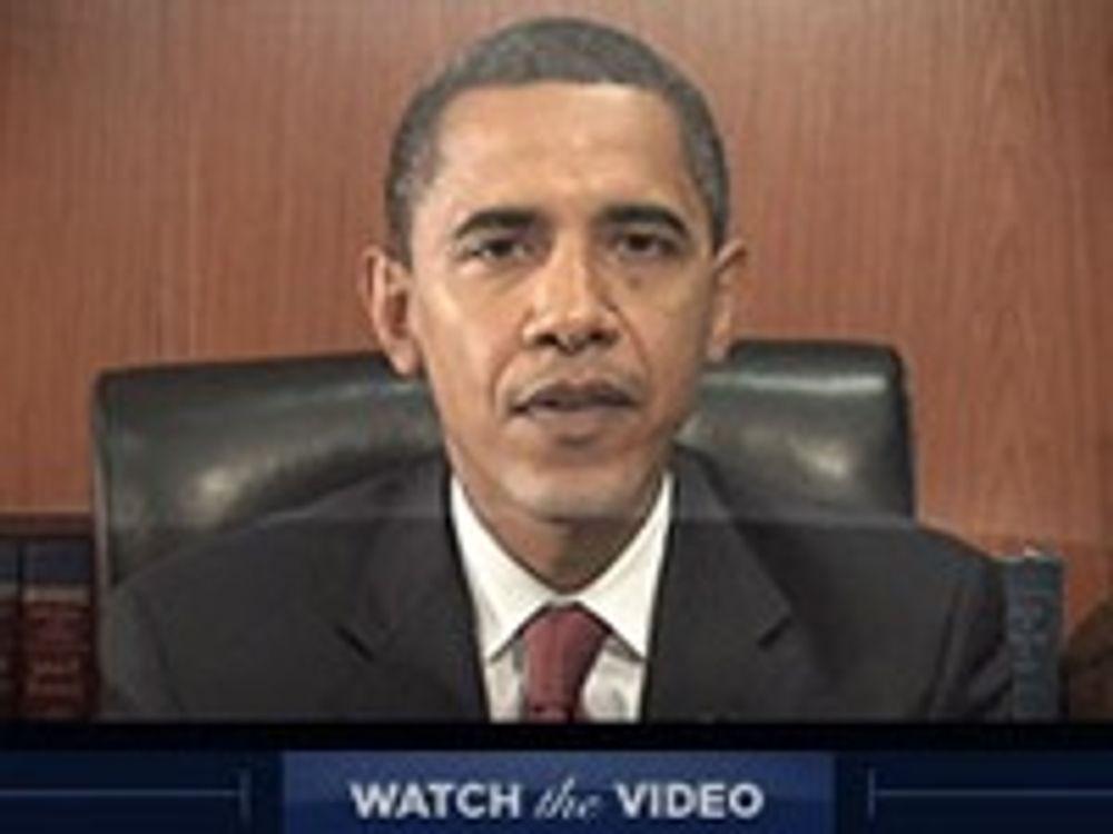 Obama lover ukentlig video på YouTube