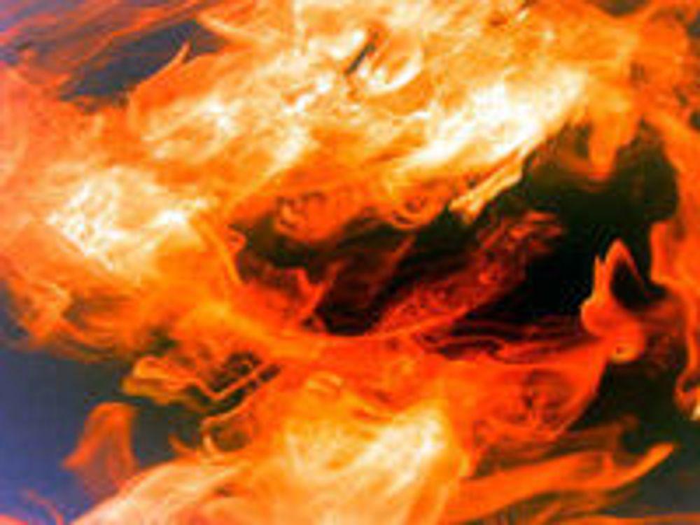 Brann slo ut internett og TV