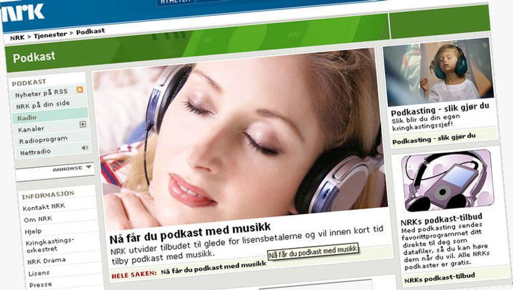 NRK og Tono har inngått en unik avtale som gjør det mulig for NRK å legge ut sine radioprogrammer som podkast-sendinger på internett.