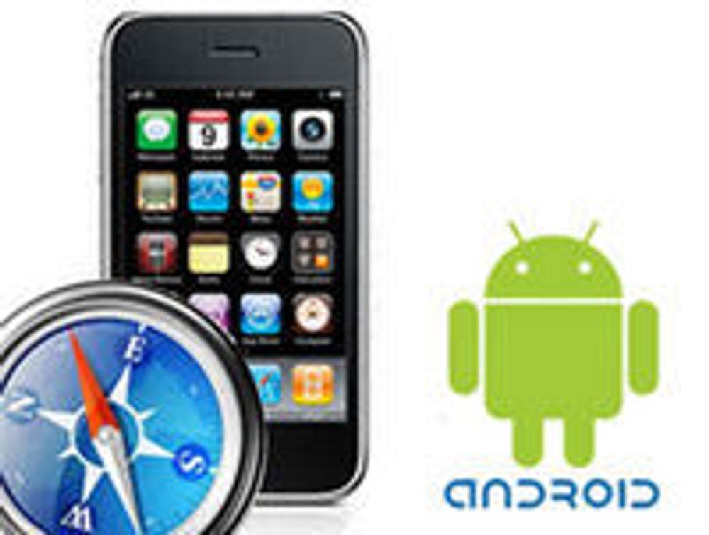 Stadig flere surfer med Android