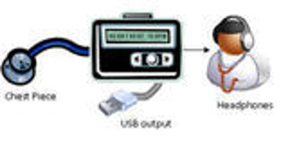Studenter designer Linux-basert stetoskop