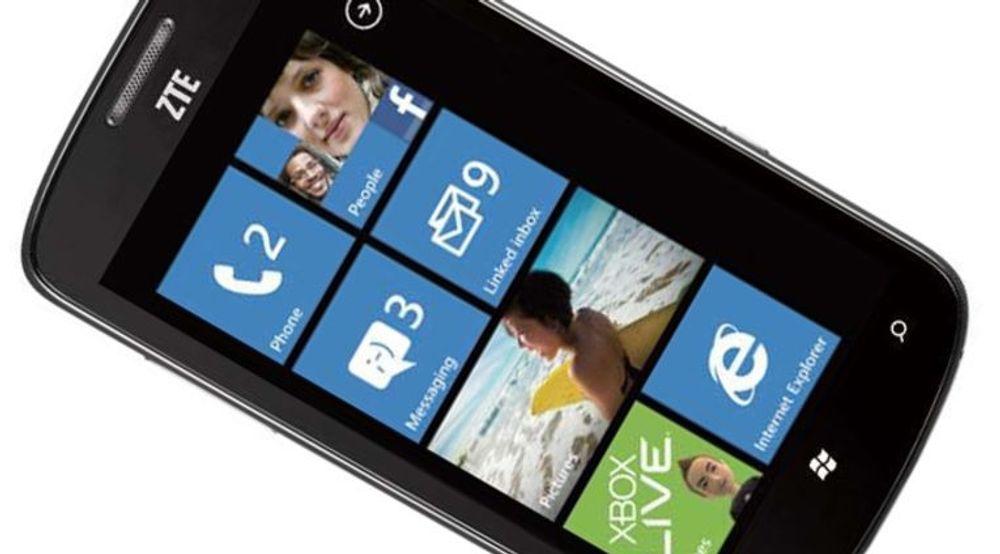 Tania er den første Windows Phone-baserte smartmobilen fra ZTE.
